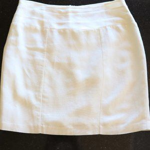Love 21 White LInen Skirt with Lining